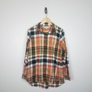 Madewell Womens Button Front Shirt Size M Pocket